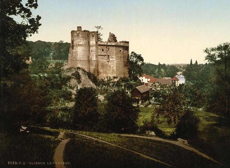 Château de Clisson, photo prise entre 1890 - 1900.