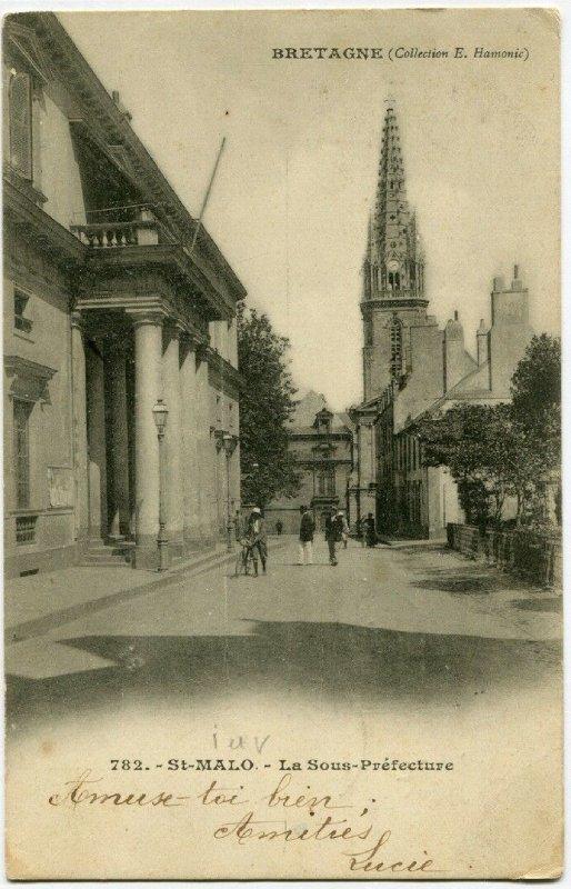 carte postale ancienne de Saint-Malo-Sous Prefecture