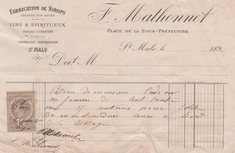 Ancienne facture F. Mathonnet