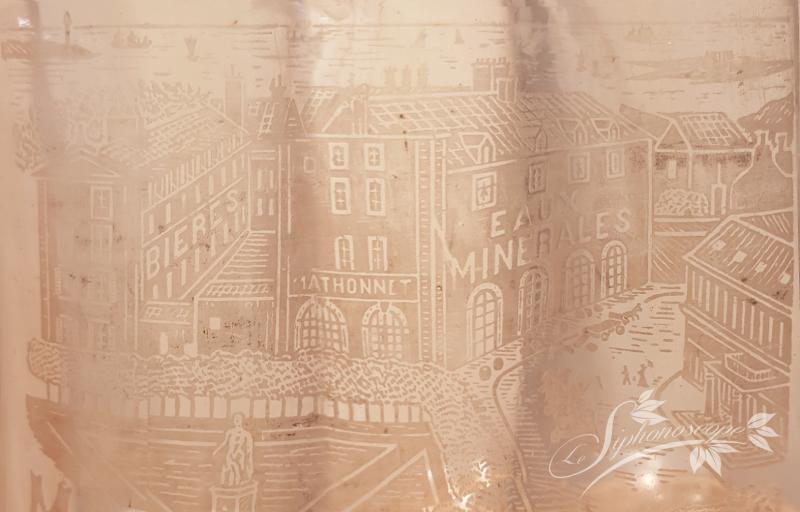 Vue dépliée de la gravure du siphon Mathonnet